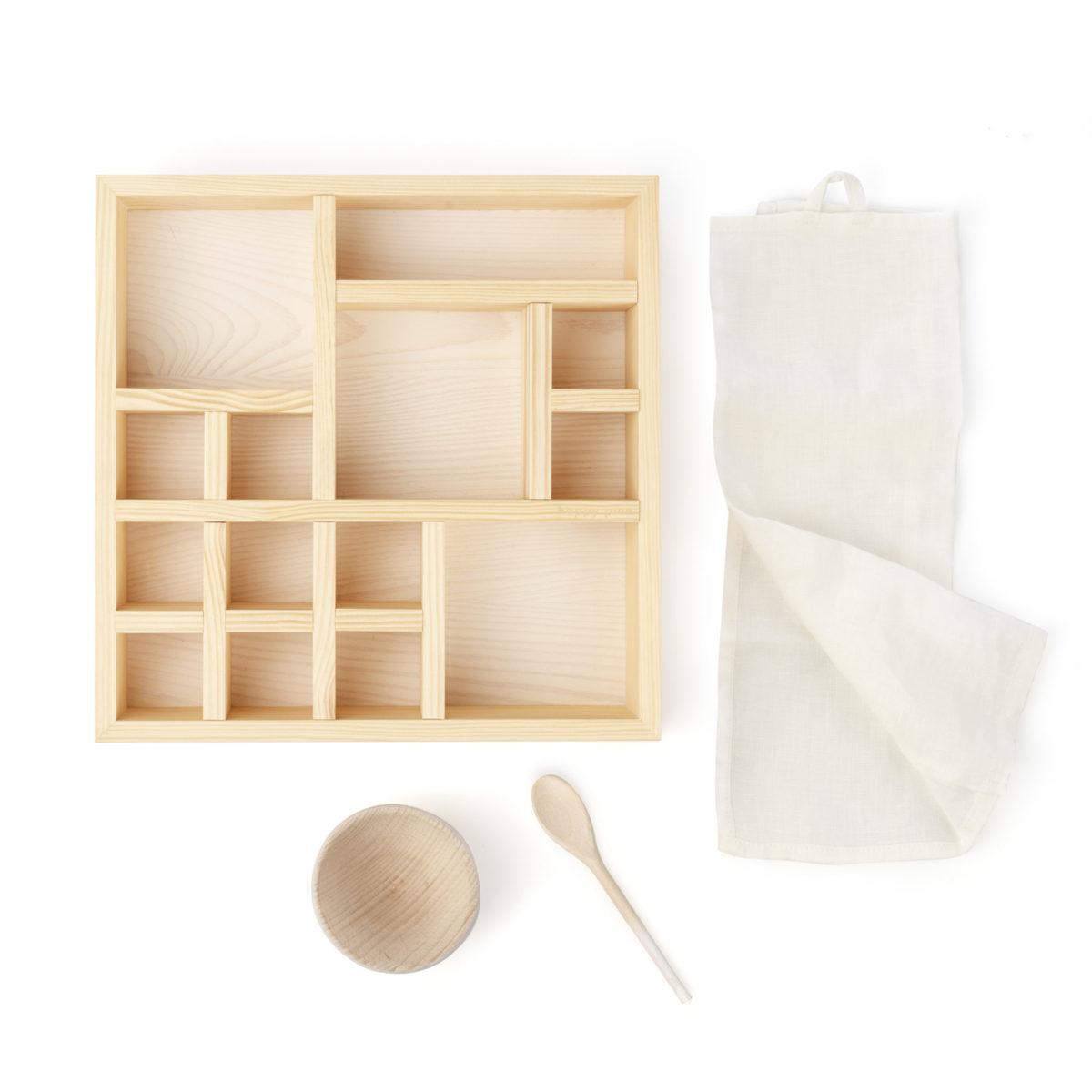 natural wooden organizer box