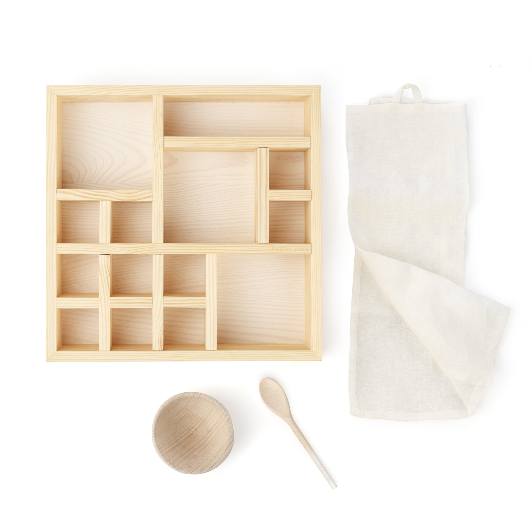 natural wooden organizer box
