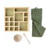 natural cosmetics wooden organizer box
