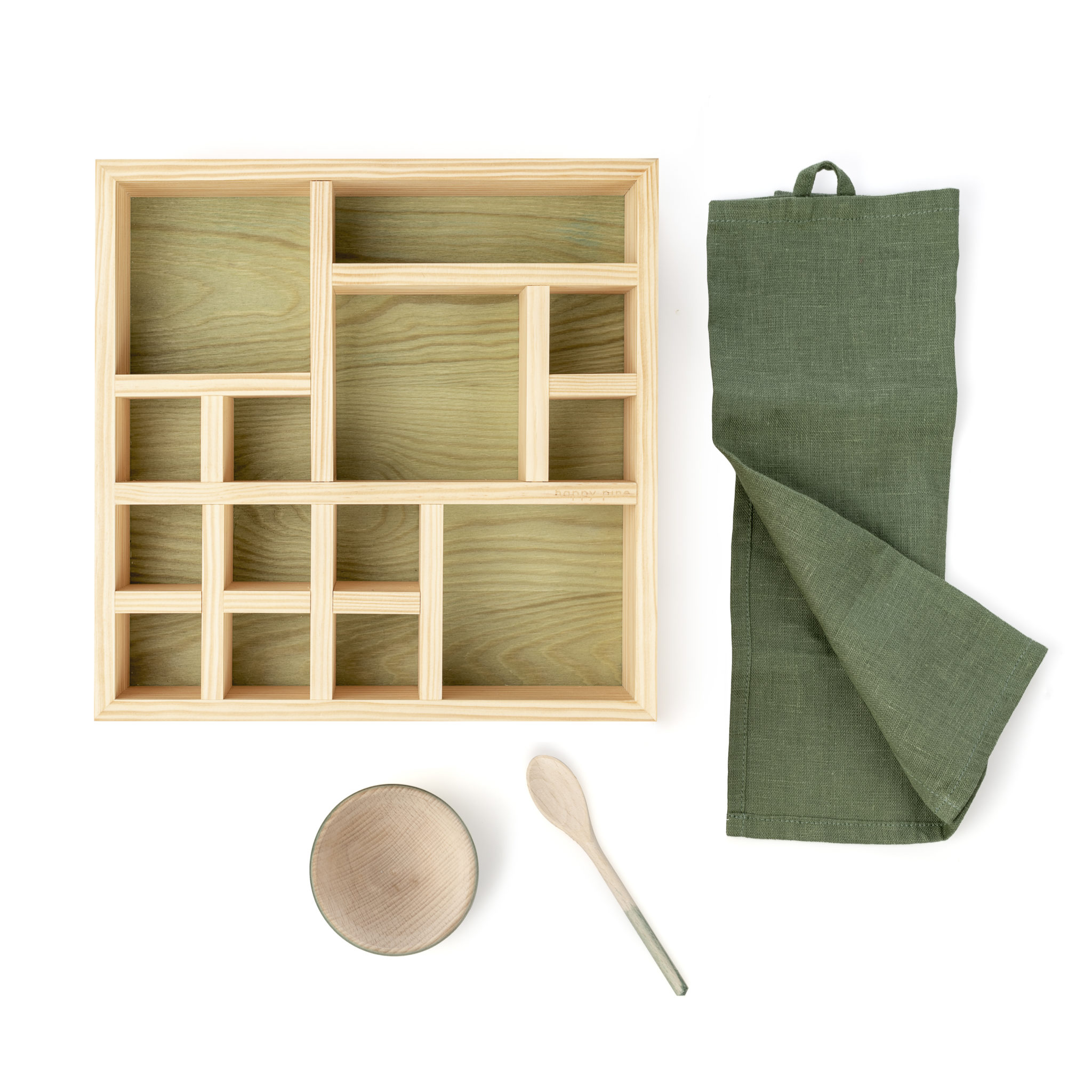 natural cosmetics wooden organizer box