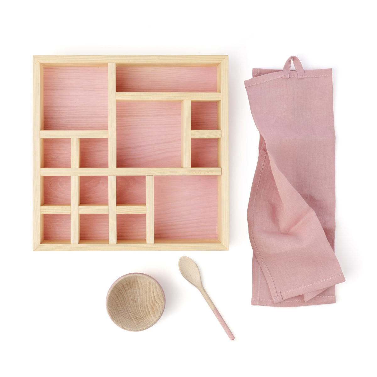 natural cosmetics organizer box