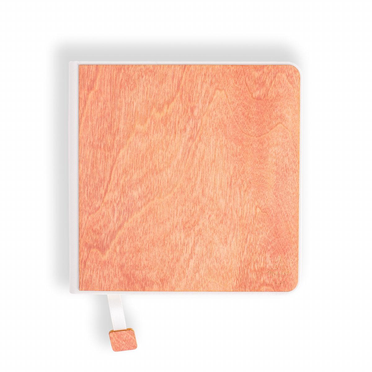 notebook, sketchbook, pink wood,